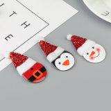 円形のクリスマスボタンPinのバッジの安全ピンおよび毛布ピン安いカスタムバッジ