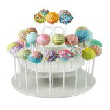 Supporto a file rotondo acrilico libero del Lollipop del banco di mostra