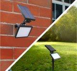 Outdoor Pelouse lumière solaire Spotlight solaire lumière solaire de jardin