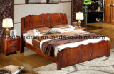 Solid Wooden Bed Modern Doubles Beds (M-X2293)