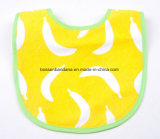 Китай на заводе производят печати логотип хлопка Терри желтый абсорбирующий малыша Bib фартуков