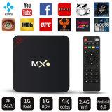 Mx9 Androïde OS 2GB RAM/16 van de Kern van de Vierling van het Vakje S905W van TV Androïde 6.0 GB- ROM die het Vakje van TV van Media Player 4K stromen