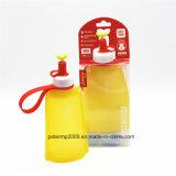 faltbare im Freien Wasser-Flaschen-zusammenklappbare Wasser-Flasche des Silikon-300ml