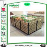 Стеллаж для выставки товаров плодоовощ овального деревянного металла Vegetable