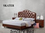 B006 미국식 침실 가죽 침대