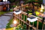 Lumière solaire de jardin de lumière de creux de la jante de DEL