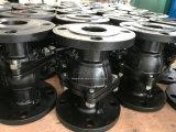 Pn16 haute plate-forme 2 pièces en acier au carbone Vanne à boisseau sphérique à embase