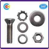 Aço de carbono de DIN/ANSI/BS/JIS/A2-70 estrangeiro Stainless-Steel parafusos escareados da combinação da cabeça cinco