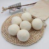 Met de hand gemaakte Witte Bal 100% van de Wasserij de Drogere Ballen van de Wol