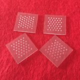 Strato libero di vetro di quarzo con la scanalatura del laser
