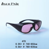 Óculos de proteção de segurança do laser para 755&808nm para o laser da remoção do cabelo. laser do Alexandrite 755nm com o laser dos diodos 808nm