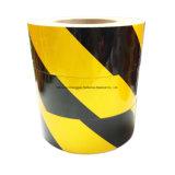 Noir et une bande jaune auto de danger du ruban adhésif réfléchissant (C3500-S)