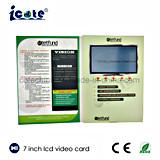 Hochwertige 7 Zoll LCD-videobroschüre für Geschäft/Geschenk/Einladung