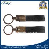 Популярное изготовленный на заказ кожаный Keychain с лазером