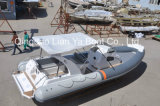 20人の速度のガラス繊維の肋骨の哨戒艇の漁船の船外モーター