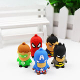 Dibujos animados en 3D Super Héroes PVC Pen Drive Superman Spiderman Batman Llave USB Flash Drive