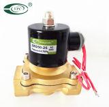 "El uni-D de 12VCC N/C de agua de Viton de latón de 1/4"" de aire/combustible Válvula de solenoide eléctrico"