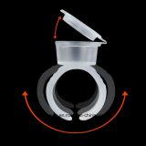 Microblading에 의하여 살균되는 20PCS /Pack를 위한 뚜껑을%s 가진 처분할 수 있는 안료 반지