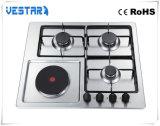 Stufa di gas di vetro nera di vendita calda dei 4 bruciatori per cucinare