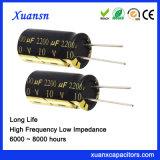 10V de Elektrolytische Condensator van het 2200UFAluminium Met lange levensuur