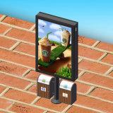 Для использования вне помещений двухсторонний рекламы освещения в салоне в корзину