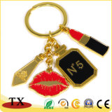 승진 선물은 립스틱에게 주문 로고를 가진 열쇠 고리를 구성한다
