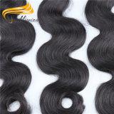 Alimina cabello negro natural brasileña de proveedores de cabello virgen sin procesar