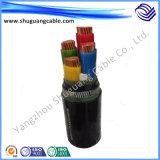 Os Multi-Núcleos 26/35kv XLPE isolaram o cabo distribuidor de corrente blindado grosso Sheathed PVC de fio de aço