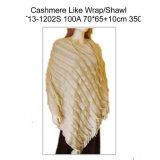 ポンチョのような女性カシミヤ織か覆いまたはショール