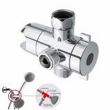 3 contacts de la tête de douche en chrome de l'eau en plastique de la soupape de dérivation /support adaptateur /titulaire