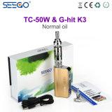 Seego는 거대한 수증기를 가진 K3 Eliquid 기화기 펜 +Battery 장비를 G 명중했다