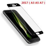 Vidrio Tempered curvado frío completo de la cubierta de plena pantalla del pegamento 5D para Samsung A3 A5 A7 2017