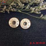 Haste de metal de boa qualidade Jean botão com o logotipo personalizado e tamanho para Jean e Camisa