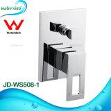 Casa de banho com chuveiro de parede Marca de latão maciço torneira misturador
