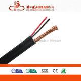 RG6+2c cabo coaxial com cabo de alimentação para CCTV Cabo Siamês CATV