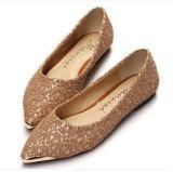 Оптовая торговля указал обувь ретро металлической головки кружева плоскую обувь