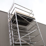 Tour en aluminium mobile d'échelle de bâti d'échafaudage