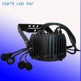 高い発電は9 LEDs 15W LEDの照明LED同価ライト装飾ライトを防水する