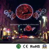 La luz de la decoración de la calle de la luz de Navidad