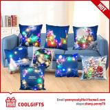 マルチカラークリスマスのサンタデザインの正方形LEDライト枕箱