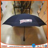 流行の耐久のロゴによって印刷される黒いゴルフ傘