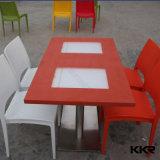 Restaurante Pedestal redonda superior em mármore mesa de café