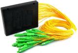 Divisor óptico 1X2, 1X4, 1X8, 1X16, 1X32, tipo divisor de fibra del montaje de estante de 1X64 1u del PLC