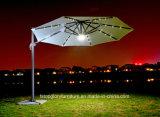 Luz LED de aleación de aluminio jardín al aire libre paraguas Roma