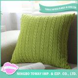 Sofá personalizado atirar o algodão tricotado removível caso almofadas decorativas