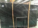 Lajes de mármore de grãos de madeira com veias preto para parede/Flooring