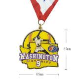 工場リボンが付いている卸し売り金属のSofteのエナメルのスポーツ賞メダル