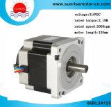 86bl3a125 Motor DC, Motor eléctrico 86mm de diámetro 310VDC 660W 2.1nm motor CC