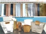 Poignée en cuir occasionnels de sacs à main de l'épaule fourre-tout d'épicerie avec fermeture à glissière en haut