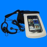 防水イヤホーンが付いている多彩な携帯電話の腕章の防水袋